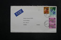 SINGAPOUR - Enveloppe De Singapour Pour La Zambie En 1971, Affranchissement Plaisant - L 27341 - Singapour (1959-...)