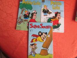 3 Bandes Dessinees  Petit Lulu  3 Et 4  .et Super Souris 4 - Lots De Plusieurs BD