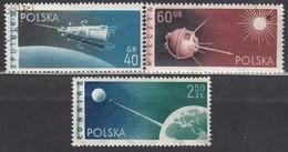 POLEN 1959 - MiNr: 1127-1129  Komplett  Used - Raumfahrt