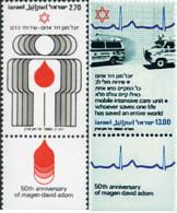 Ref. 328264 * NEW *  - ISRAEL . 1980. 50th ANNIVERSARY OF ISRAEL RED CROSS. 50 ANIVERSARIO DE LA CRUZ ROJA DE ISRAEL - Israel