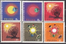 POLEN 1965 - MiNr: 1606-1611  Komplett  ** / MNH - Raumfahrt