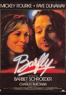 Affiche De Film - BARFLY - Mickey Rourke - Faye Dunaway - Affiches Sur Carte