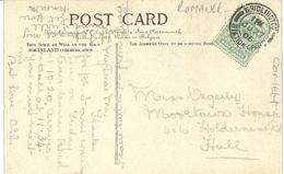 BRIDLINGTON STATION OFFICE POSTMARK WITH JWS ROMANCE LANGUAGE OF FLOWERS POSTCARD - Postmark Collection