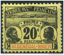 Haut Sénégal Et Niger (1906) Taxe N 4 * (charniere) - Opper-Senegal En Niger (1904-1921)