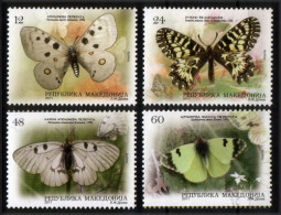 Macedonia 2011 Fauna Butterflies, Schmetterlinge, Set MNH - Macédoine