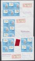 "2949, ""IOC"", 1985, Alle 8 ZD-Kombinationen Auf 3 R-Briefen - Covers & Documents"