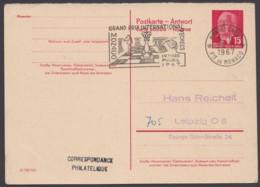 "P 65 A, Dek. Stempel ""Schach"", Monaco, 1967 - DDR"