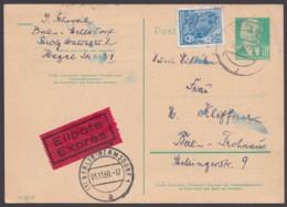 "P 68, Bedarfs-Orts-Eilboten ""Berlin"", Ost-West, Pass. Zusatzfrankatur - DDR"