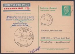 P 73 A, Aus Prag Retour, Messeluftpost, 1966 - DDR