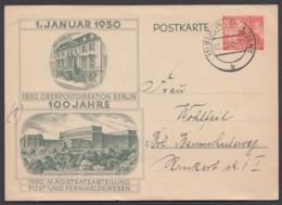 """P 10, Ortsbedarf """"Berlin"""", Unauffälliger Senkr. Mittelbug - Postcards - Used"""