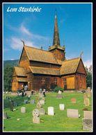 1 AK Norwegen * Die Stabkirche Von Lom - Erbaut Um 1270 - Restauriert 1933 * - Norwegen