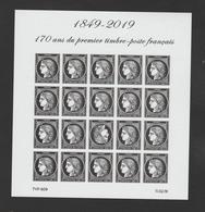 """FRANCE / 2019 / Y&T N° ?2019/03/14 ** : """"Cérès 1849-2019"""" Bloc (20 TP) - Gomme D'origine Intacte - Mint/Hinged"""