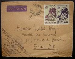 Dahomey Cotonou Lettre En Franchise Militaire Mais Avec Timbres  Dépôt De Guerre N°12 Pour Saint Dié (Vosges) - Dahomey (1899-1944)