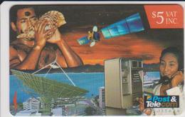 #05 - FIJI-01 - SHELL - TELEPHONE - SATELITTE - Fiji