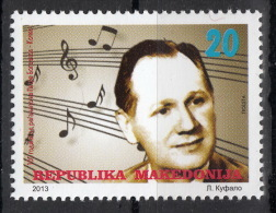 Macedonia 2013 - 100 Years Anniversary Peter Bogdanov Kocko, Composer, Music, MNH - Macédoine
