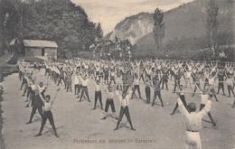 ABERSEE (Salzburg) - Ferienort, Turnplatz, Sehr Seltene Schöne Karte Gel.1914, Gute Erhaltung - Österreich