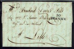 """FR - Marque """"20 BEAUNE"""" Lettre Du 25 Ventose An 10 Pour Lille - Commerce De Bons Vins - Taxe 7 Décimes De Port Dû - B/TB - 1801-1848: Voorlopers XIX"""