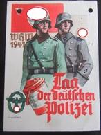 Postkarte Propaganda Tag Der Polizei / SS - Erhaltung II-III - Deutschland
