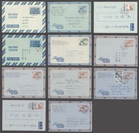 KOREA. C.1954-61. Aerogrames / Used. 11 Diff Mostly Addressed To USA. Opportunity. - Korea (...-1945)