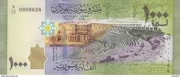SYRIA 1000 LIRA 2013 P-116 LOW SERIAL 00006XX UNC */* - Syria