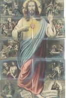 Magnifique PUZZLE De 10 CPA  - Voici Ce Coeur Qui A Tant Aimé Les Hommes  - Sacré Coeur (74 ASO) - Holy Places