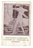 CARTOLINA  CARTE POSTALE  INAUGURAZIONE DEL GAGLIARDETTO FASCIO RAVENNATE DI COMBATTIMENTO  1921 - Pubblicitari