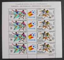 ANDORRE ESPAGNOL - 1982 - YT F 149 A - COUPE DU MONDE FOOTBALL - ESPAGNE 1982 - Neufs