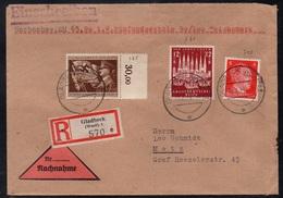 GLADBECK - ALLEMAGNE - III REICH / 1944 LETTRE  CONTRE REMBOURSEMENT POUR METZ - NACHNAHME (ref LE3366) - Lettres & Documents