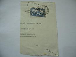 FRANCOBOLLO MAROCCO MAROC 1945  SU FRAMMENTO BUSTO ARSIZIO VARESE - Marocco (1956-...)