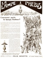 "PUB LAMPE A PETROLE  "" PHEBUS "" 1908 ( 1 ) - Technical"
