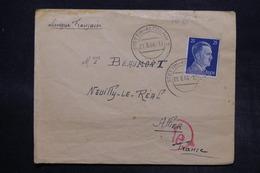 ALLEMAGNE - Enveloppe Du Camp De Stettin Altdamm Pour La France En 1943 Avec Contrôle Postal - L 27375 - Deutschland