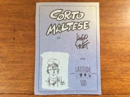 Publicité BD / CORTO MALTESE De Hugo Pratt Par Latitude Sud - Produits Dérivés - Publicités