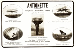 "PUB AEROPLANES-VEHICULES-MOTEURS  "" ANTOINETTE "" 1908 ( 1 ) - Other"