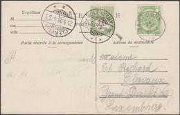 Luxembourg 1909. Carte Postale Taxée De Bastogne à Clervaux - Postage Due