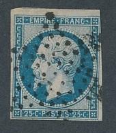 """N-410: FRANCE: Lot  """"NAPOLEON """" Avec N°15 Obl étoile  Signé Calves (filet Effleuré En Haut à Droite) - 1853-1860 Napoléon III"""