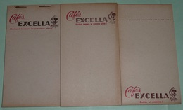 Rare Lot De 3 Anciens Carnets De Bistrot Ou D'épicerie, Cafés EXCELLA, Carnet Calepin, Bistro - Autres Collections