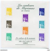 RC 11961 FRANCE BF N° 44 LES COULEURS DE MARIANNE BLOC FEUILLET NEUF ** A LA FACIALE - 1997-04 Marianne Of July 14th