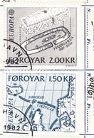 ISOLE FAROER - Francobolli EUROPA - Eventi Storici 1982. - Isole Faroer