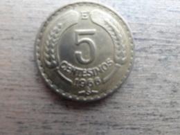 Chili  5  Centesimos  1966  Km 190 - Chile