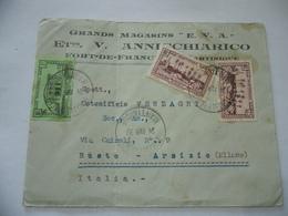 BUSTA PUBBLICITARIA GRANDS MAGASINS EVA FRANCOBOLLI MARTINIQUE/BUSTO 1937 - Martinica (1886-1947)