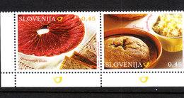 Slovenia   -   2008. Gastronomia ; Carne, Dolce, Formaggio. Gastronomy ; Meat, Dessert, Cheese. MNH - Alimentazione