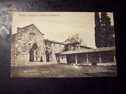 Fiesole (Firenze): Convento E Chiesa S. Francesco. Cartolina Fp Inizio '900 - Firenze