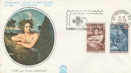 CROIX ROUGE  PREMIER JOUR D'EMISSION 1969 - Marcophilie (Lettres)