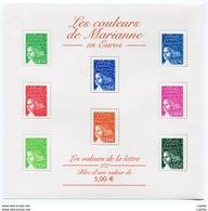 RC 11962 FRANCE BF N° 45 LES COULEURS DE MARIANNE BLOC FEUILLET NEUF ** A LA FACIALE - 1997-04 Marianne Of July 14th