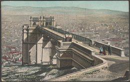 L'Ascenseur De Notre Dame De La Garde, Marseille, C.1910 - Léopold Verger CPA - Notre-Dame De La Garde, Ascenseur