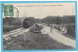 08 AVAUX LE CHATEAU - TRAIN - Les Deux Ponts Sur L'Aisne -  Animation - France