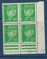 """FR Coins Datés Yt 513 """" Pétain 80c. Vert-jaune """" Neuf** Du 21.1.42 - 1940-1949"""