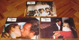 Roger Moore SUNDAY LOVERS Lynn Redgrave 3x Yugoslavian Lobby Cards - Foto's
