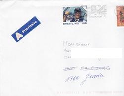 Breitling 1991. Vignette Sur Lettre Circulée. Tied Vignette - Horlogerie