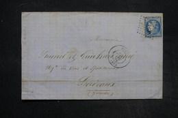 FRANCE - Lettre De Nice Pour Bordeaux En 1870 , Affranchissement Bordeaux - L 27387 - Poststempel (Briefe)
